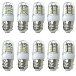 Aoxdi 10X Ampoules LED E27 Mais Lampe 4W, Blanc Chaud, 24 SMD 5730 LED Lampes, E27 LED Lumineux Ampoule AC220-240V (Aoxdi, neuf)