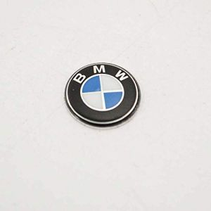 BMW Porte-clés arrondis Logo Emblème badge en 11mm (66122155754) (Colle n'est pas inclus) (ARS Pièces Détachées, neuf)