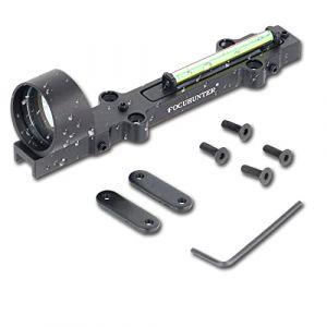 FOCUHUNTER 1x28mm Fibre Optique Rouge/Verte visée de Fusil à Point holographique Fusil de Chasse pour Les Sports de Plein air Mire Tactique à Point Rouge/Vert 3MOA (Verte) (FOCUHUNTER, neuf)