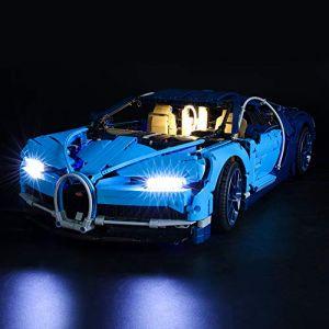 BRIKSMAX Kit de LED pour Lego Technic Bugatti Chiron,Compatible avec la Maquette Lego 42083, La Maquette de Construction n'est Pas Incluse (SuSenGo Toys, neuf)
