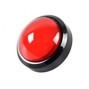 EG STARTS 4 Pouces 100mm Big dôme 12V LED Lumineux des Boutons poussoirs avec Micro pour Arcade Machine Jeux vidéo Pièces (Rouge) (EG STARTS-EU, neuf)