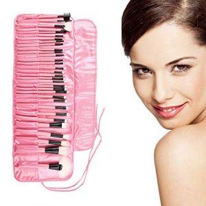 Rose Professional 32 Pcs Fard À Paupières Mélange Poudre Fondation Poudre Supérieure Douce Cosmétique Maquillage Pinceau Kit Avec Sac Pochette (DailyinFR7shop, neuf)