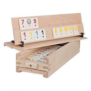 Woodtastic Jeux de Société Rummy - 106 Tuiles et Une Boîte de Rangement en Bois de Hêtre Massif (Connecting Vendors, neuf)