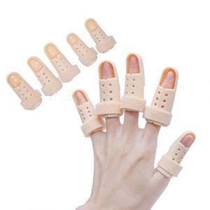 Sumifun Attelle de doigt, Attelle Mousse Doublé, Malléable Métallique Attelle to Aligné doigts Splint Brace moyen doigt Wrap Fasteners Tissu élastique pour les doigts Trigger doigts (Sumifun Health, neuf)