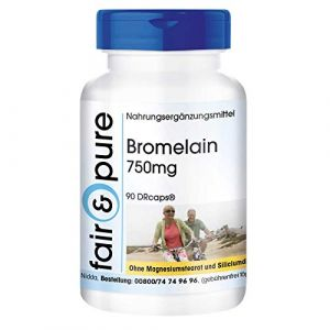 Bromélaïne 750mg, haute dose, 90 gélules, substance pure, sans additifs, végétarien (Fair & Pure, neuf)