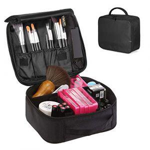 Trousse Maquillage, esonmus Trousse de Toilette Homme et Femme Vanity Maquillage Sac Cosmétique Vanity Maquillage pour Les Filles (Noir) (DealSo, neuf)