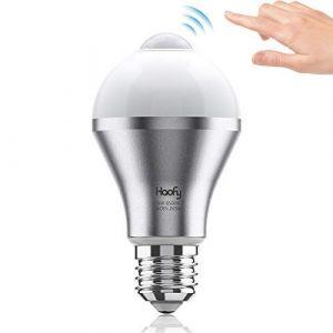 Haofy Ampoule Détecteur de Mouvement E27, 9W Ampoule de Capteur LED Blanc Froid, Ampoule de Commutateur Intelligent pour Salle de Bains/Escalier/Oorte Avant/Garage (Qmee-EU, neuf)