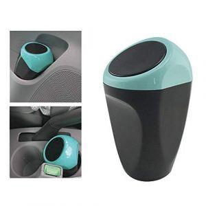 MRCARTOOL Mini poubelle de voiture peut en plastique des déchets poubelle 16x8CM poubelle conteneur de stockage pour l'intérieur de la voiture/bureau/maison(Poubelle Blue-Mini) (Zhong Jia, neuf)