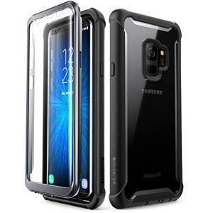 i-Blason Coque Samsung Galaxy S9, [Série Ares] Coque Intégrale Anti-Choc avec Dos Transparent et Protecteur d'écran Intégré [Résistant aux Rayures] pour Samsung Galaxy S9 2018 (Noir) (I-Blason EU, neuf)