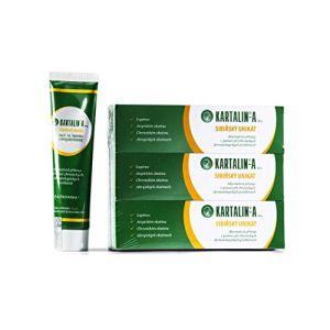 KARTALIN-A Soin pour le psoriasis et l'eczéma, Crème protectrice-prophylactique pour la peau, 3 Crèmes x 100 ml. (KARTALIN, neuf)
