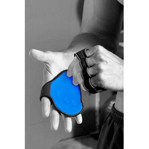 GymPaws La Nouvelle Alternative aux Gants de Musculation - Gants de CrossFit (entraînement physique croisé) en CUIR - Poignées d'entraînement (Bleu) (GymPaws Inc, neuf)