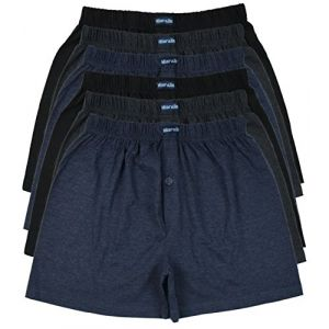 MioRalini Top Offre 6 Boxer Homme Couleur unie, Article: 6 avec intervention SET04,Taille: M-5 (MioRalini, neuf)