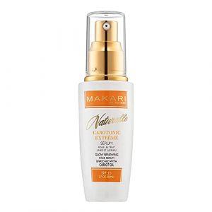 Makari Naturalle Carotonic Sérum Éclaircissant (1.7oz.) Sérum éclaircissant illuminant et raffermissant à base dÂ'huile de Carotte et de SPF15 (Makari De Suisse EU, neuf)