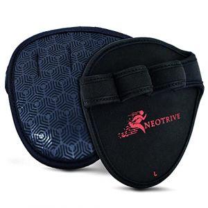 Neotrive Maniques Musculation Maniques Crossfit Grip Gants de Musculation Grip Pads Fitness Crossfit – Haltérophilie, Barre de Traction Hommes Femmes (Neotrive, neuf)