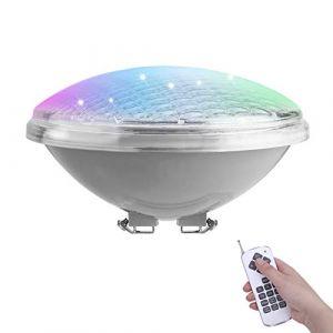 COOLWEST RGB PAR56 Lampe de Piscine Lumière LED avec télécommande, 36W Remplacez Le lumière halogène 250W, Etanche IP68 Éclairage sous-Marin, 12V AC/DC (COOLWEST-FR, neuf)