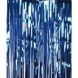 MZP Frange métallique de clinquant Rideaux de porte décor clinquant Fête de Noël/anniversaire/mariage Toile de fond de stand de photo , blue (ZhongPing Miao, neuf)