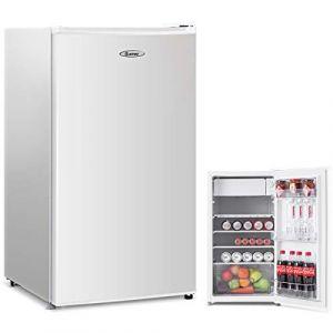 COSTWAYFrigo Combiné Réfrigérateur Mini-Réfrigérateur,Capacité91L,230v,50HZ Classe d'Efficacité Energétique A+,Blanc (FDS GmbH, neuf)