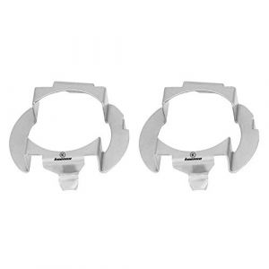 2pcs Supports de Base H7, Keenso LED Ampoule d'Adaptateur de Phare Titulaire Support de Fixation Socket Clip de Retenue en Aluminium Argent (sunfany uk, neuf)