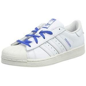 adidas Superstar C, Chaussures de Gymnastique Garçon Mixte Enfant, Blanc FTWR White FTWR White Blue, 30.5 EU (GBF SASU, neuf)