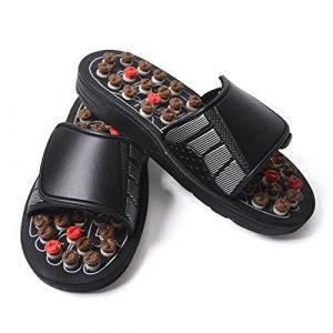 Pantoufles de massage réglables Coussin de massage des pieds Pantoufles de santé pour hommes et femmes Outils de massage des pieds (1 paire),44 (wei tang 168, neuf)