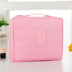 MZP Corée sac de lavage Kit de Voyage portable dame Voyage poche imperméable Voyage d'affaires Produits cosmétiques , light pink (ZhongPing Miao, neuf)