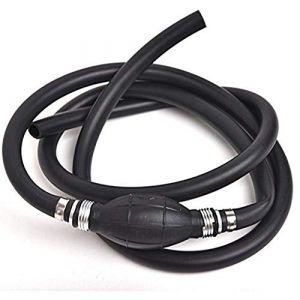 Queta Pompe à Main Tuyau à Essence en Caoutchouc Pompe Mannuel de Transfert de Carburant Gaz Réservoir d'huile pour Bateau Véhicule Conduite d'Aspiration d'eau Diesel 8mm (Noir) (FCJDDD, neuf)