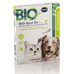 BIO-Spot On 4 Pipettes I Moyen Naturel Anti tiques et puces I Protection anti-tiques pour chiens et chats à base de biologie pour petits chiens et chats (ARGOS Haustierbedarf, neuf)