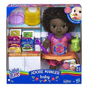 Baby Alive - Adore Manger - Poupee Cheveux Noirs (LC TECK, neuf)