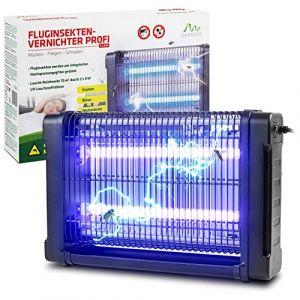 Gardigo 62404 - Lampe UV Anti Moustique Electrique -Tue Mouches Destructeur Anti Insectes 16W; Piège Moustiques Mouche Intérieur Extérieur; 70m² Bac Collecteur, Chaîne de Suspension (tevigo gmbh, neuf)