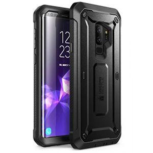 Supcase Coque Samsung S9+ Plus, [Série Unicorn Beetle PRO] Coque Intégrale de Protection Robuste Anti-Choc avec Protecteur d'écran Intégré pour Samsung Galaxy S9+ Plus 2018, Noir (I-Blason EU, neuf)