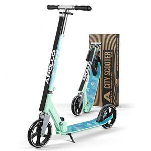 Apollo XXL Wheel Scooter 200 mm - Phantom Pro Eau est Un Trotinette City Scooter de Luxe, City-Roller Pliable et réglable en Hauteur, Kick Scooter pour Adultes et Enfants (geschenk-kiosk, neuf)