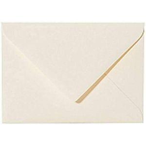 25 enveloppes B6 DIN (12,5 x 17,6 cm) Crème, technique de fermeture?: feuchtkl Fermeture avec Rabat triangulaire (Crème). Grammage?: 120 g/m² (Briefumschläge24plus, neuf)