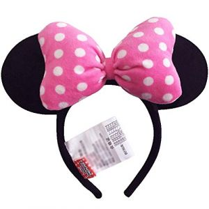 1 pc Rose Coiffe Tête Cerceau Mickey Minnie Mouse Oreilles Filles Bandes De Cheveux Tête Cerceau En Peluche Jouets Sac Porte-clés Pour Les Enfants (timeshow, neuf)