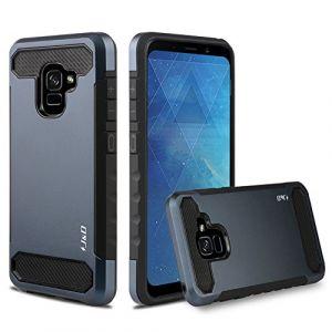 J&D Compatible pour Coque Galaxy A8 Plus 2018, [Fibre Carbone] [Double Couche] Coque de Protection Robuste Antichoc et Hybride pour Samsung Galaxy A8 Plus 2018 / A8+ 2018 - [Pas pour Galaxy A8 2018] (J&D Tech FR, neuf)