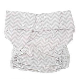 Pantalon Couche Anti-Incontinence Pour Adultes, Sous-Vêtement de Protection Lavable, Réutilisable, Articles de Toilette Pour Incontinence Pour Personnes Âgées, Taille 65~135 Cm(Z13) (salmueu, neuf)
