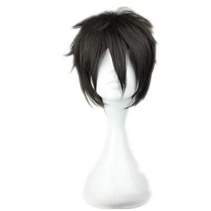 COSPLAZA Costume Perruque Cheveux Courts Noir Homme Garçon Héros Étoile Anime Show Manga Caractère Jouer Partie Résistant À La Chaleur Cosplay Perruques (COSPLAZA®, neuf)