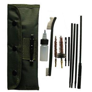 10 Morceau/Set Kit de Nettoyage des Armes à feu pour .22cal 5.56mm Tige de Nettoyage pour Fusil Nylon Brosse Cleaner Chasse Pistolet Accessoires Nettoyer Outils Ensemble (SUNRIS OUTDOOR, neuf)