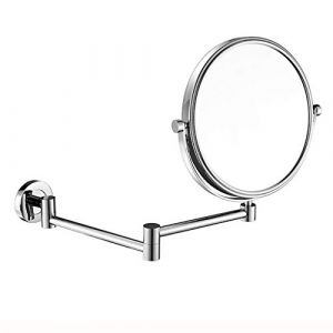 JXQ Miroir HD pour salle de bains Toilette de salle de bains Applique murale télescopique pliable en forme de loupe double face, 2 couleurs (Color : Silver) (Dream Fly EU, neuf)