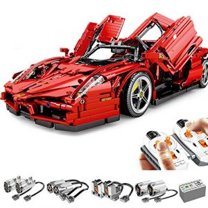 Tosbess Technic Ferrari Enzo Voiture de Sport - 2,4Ghz RC 1:10 Voiture avec Moteur et Télécommande - 2615 Pièces Jeu de Construction Compatible avec Lego Technic (TENGER MANAGEMENT LIMITED, neuf)