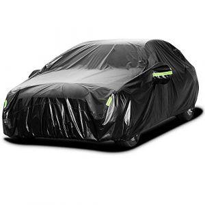Sailnovo Bâche Voiture Exterieur Impermeable 210T Noir Housse de Protection Auto Voiture Étanche Couverture Voiture 5.3 x 2 x 1.5m (Damai2020, neuf)