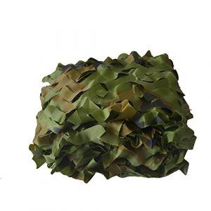 Mitefu Filet de Camouflage Woodland Couverture pour Camping Chasse Tir Parasol,1x2m 1.5x4m 2x3m 3x3m 3x4m 4x5m 5x6m 6x6m etc,lot DE 1 (Mitefu, neuf)