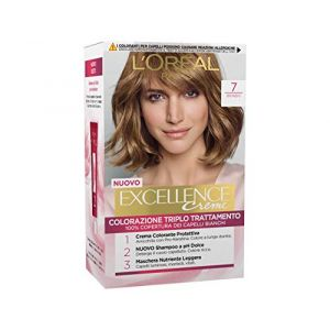 3x L'Oreal Excellence Crème 7Blond coloration pour cheveux coloration Colorant (produits discount, neuf)