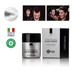 K-Max 10 G BLANC Poudre de Cheveux 100% Naturelle – Donne du Volume, Masque l'alopécie (Parapharmacie Pas Chère, neuf)