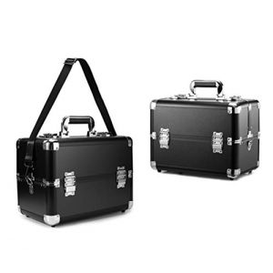 Mallette cosmétique en aluminium multifonctionnelle de valise professionnelle grande valise professionnelle,Black3 (Wzq-UK, neuf)