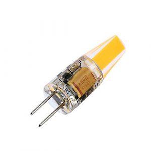 YTJ Ampoule G4 LED 6W 3500K 220LM(Blanc Chaud), AC/DC 12V, Angle d'éclairage 360 ° Fabriqué en Silicone LED COB Lumière Dimmable Equivalente à Halogène 25W [Classe énergétique A++] (Mitoy, neuf)