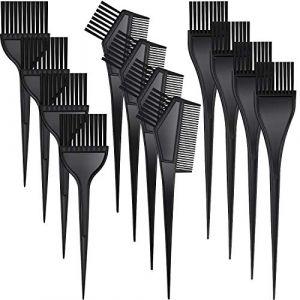 12 Pièces Brosse de Teinture de Cheveux Brosse de Coloration de Cheveux Peigne Pinceau de Coloration de Coiffure pour Usage de Maison et Salon (Grekt Waydress, neuf)