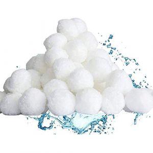 Gxhong Balles Filtrantes, 500g Boules de Filtre de Piscine, Billes Filtrantes, Média Filtre à Fibres pour Piscine Filtres à Sable Filtrage de l'eau, Filtre pour Piscine (Gxhong Direct, neuf)