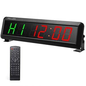 PELLOR Fitness Minuteur Horloge Murale d'entraînement avec Chronomètre Timer Interval pour Tabata, EMOM, MMA (Xunlefei, neuf)