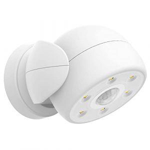 HONWELL Projecteur à LED avec détecteur de mouvement extérieur intérieur sans fil étanche à l'eau batterie extérieure projecteur lumière murale lumière de sécurité pour jardin porte ouverture couloir (honwell, neuf)