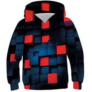 Fanient School Wear 3D imprimé Jenga Sweat à Capuche à Manches Longues à Capuche Pull Sweat Veste,A-y Jenga,S (Sunnidoor, neuf)